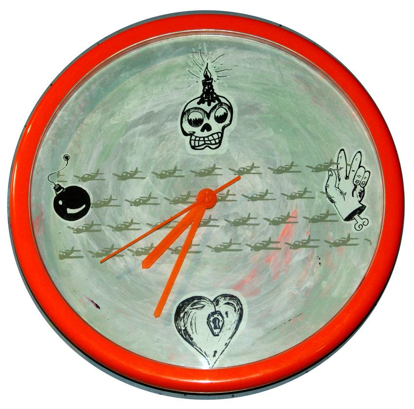 Uhr 1  Durchmesser 25 cm  -verkauft